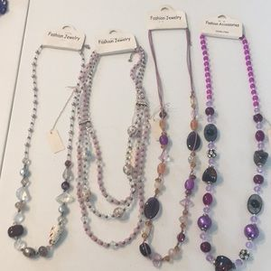 Fashion jewelry bundle of 4 beaded necklaces new